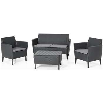Keter Salemo 4 Seater Sofa Set - Grey