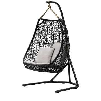 Kettal - Egg Hanging Chair, Black (192 x 95cm)