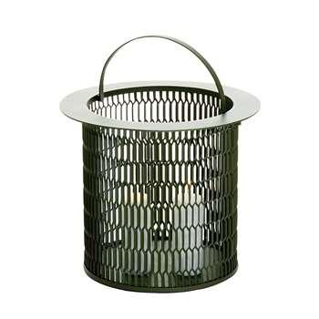 Kettal - Large Mesh Aluminum Candle Holder, Black (37.5 x 35cm)