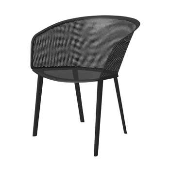 Kettal - Stamp Aluminum Dining Chair, Black (80 x 55.2cm)