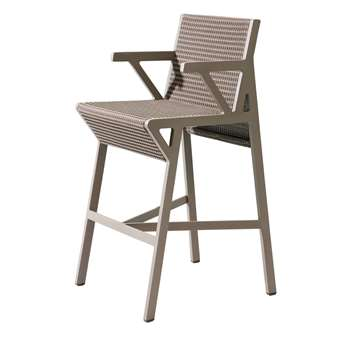 Kettal - Vieques Nido D'ape Bar Stool, Brown (110 x 60cm)