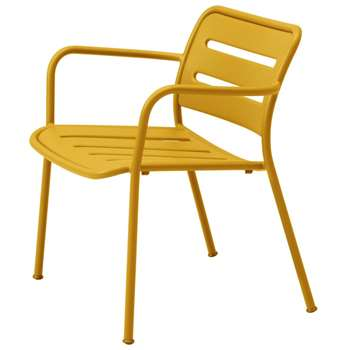 Kettal - Village Aluminium Chair, Yellow (H80 x W56 x D50cm)