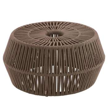 Kettal Zig Zag Woven Rope Pouf, Brown (35 x 69cm)