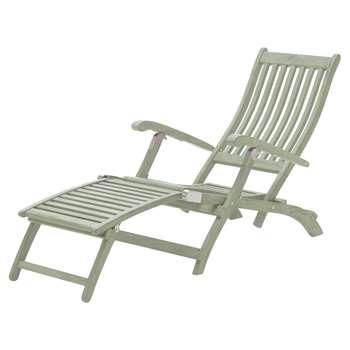 KETTLER RHS Outdoor Steamer Chair FSC-Certified (Acacia Wood), Sage (H95 x W150 x D55cm)