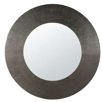 KHAMILIA - Round Black Metal Mirror (Diameter 104cm)
