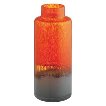 Kiata Orange and grey small glass bottle vase