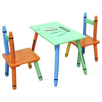 Kiddi Style Green Crayon Table & Chair (H50 x W28 x D26cm)