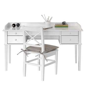 Kids Junior Office Desk in White (Width 116cm)