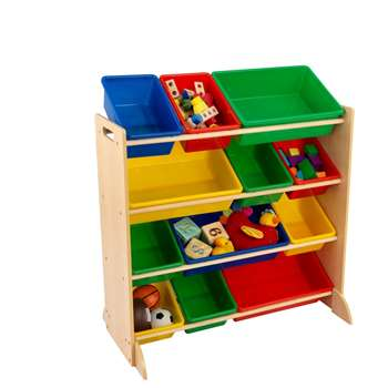 Kids Primary Storage Bin Unit 92 x 85cm