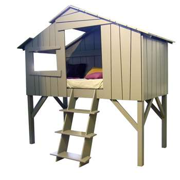Kids Treehouse Single Cabin Bed in Artichoke (205 x 228cm)