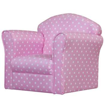 Kidsaw Mini Armchair - Pink With White Spots (42 x 48cm)