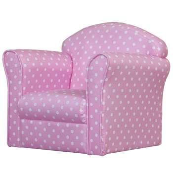 Kidsaw Mini Armchair - Pink With White Spots (42 x 48cm)