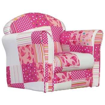 Kidsaw Pink Patchwork Mini Armchair (42 x 48cm)