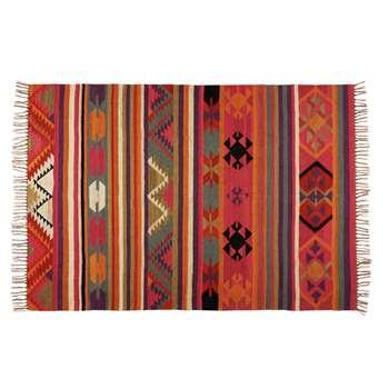 KILIMA multicoloured wool rug 160 x 230cm)