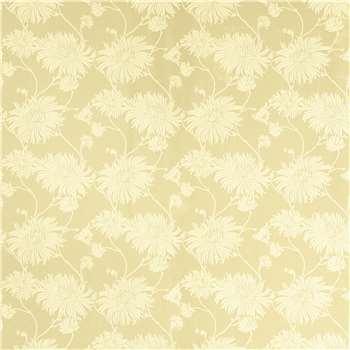 Kimono Gold Floral Wallpaper