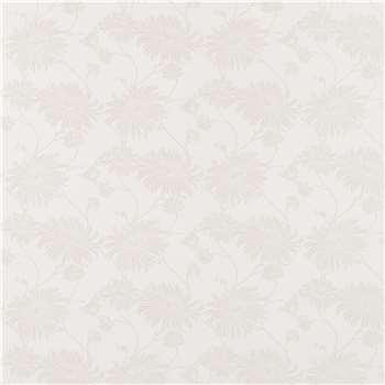 Kimono White Floral Wallpaper