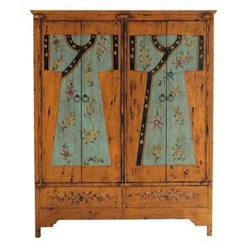 KIMONO Wooden printed wardrobe W 150cm