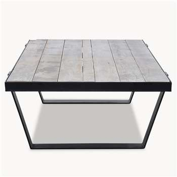 Kingswood Oak and Metal Coffee Table (H40 x W150 x D80cm)