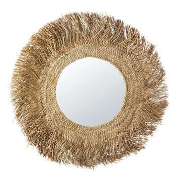 KINSHASA Natural Fibre Mirror (H92 x W92 x D3cm)