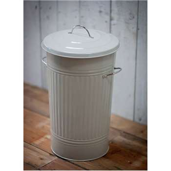 Kitchen Bin with Nickel Handles in Clay - Steel (63 x 37cm)