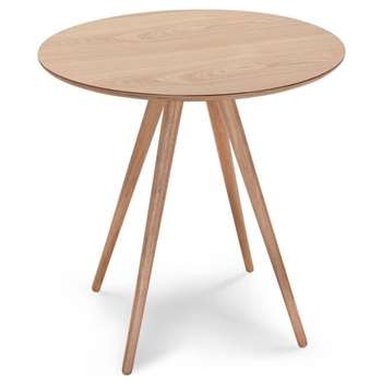 Kitson Round Dining Table, Natural Ash (70 x 70cm)