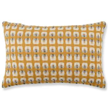 Klara Reversible Lambswool Cushion, Mustard (H35 x W50cm)