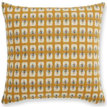 Klara Reversible Lambswool Cushion, Mustard (H50 x W50cm)