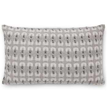 Klara Reversible Lambswool Cushion, Silver Grey (H35 x W50cm)
