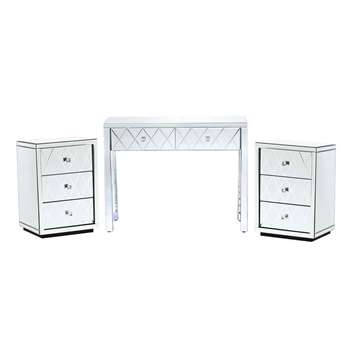 KNIGHTSBRIDGE  Mirrored Dressing Table & Pair of Bedsides
