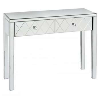 KNIGHTSBRIDGE  Mirrored Dressing Table with 4 legs (80 x 102cm)