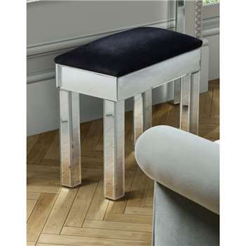KNIGHTSBRIDGE Mirrored Stool (43 x 45cm)