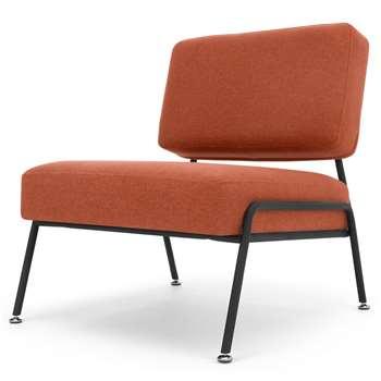 Knox Accent Chair, Retro Orange (H73 x W64 x D71cm)