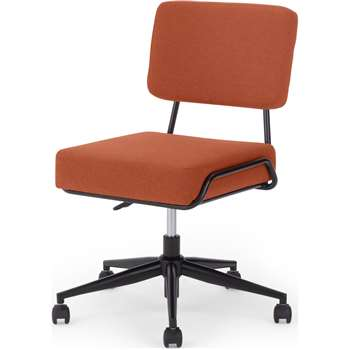 Knox Office chair, Retro Orange (H87 x W64 x D64cm)