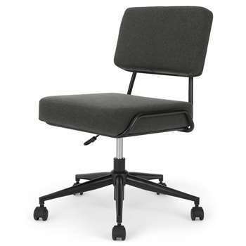 Knox Office Chair, Soot Grey (H87 x W64 x D64cm)