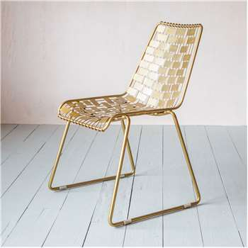 Kobi Gold Wire Chair (H80 x W50 x D60cm)