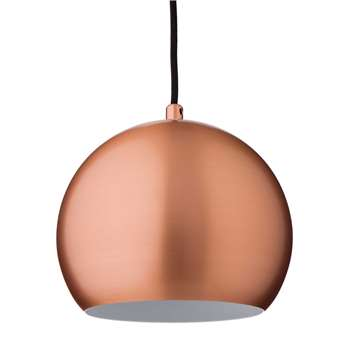 Koge Ball Pendant Lamp, Matt Copper With Black Cord 14.5 x 18