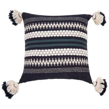KOLARI Blue Jacquard Cotton Cushion Cover (H40 x W40cm)