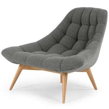 Kolton Accent Armchair, Marl Grey (H85 x W117 x D92cm)
