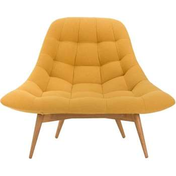 Kolton Chair, Yolk Yellow (85 x 117cm)