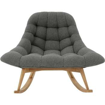 Kolton Rocking Chair, Marl Grey (H87 x W112 x D90cm)