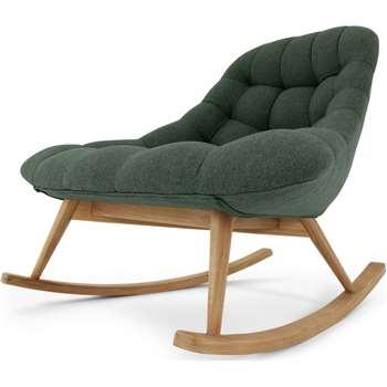 Kolton Rocking Chair, Woodland Green (H87 x W112 x D90cm)