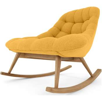Kolton Rocking Chair, Yolk Yellow (H87 x W112 x D90cm)