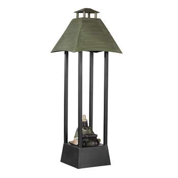 Kongzi Lamp - Black/Green (64 x 22cm)