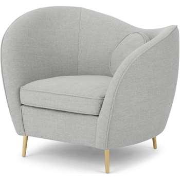 Kooper Accent Armchair, Luna Grey Weave (H85 x W96 x D74cm)