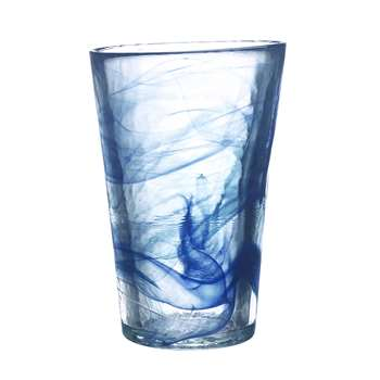 Kosta Boda - Mine Vase - Blue (19 x 13cm)