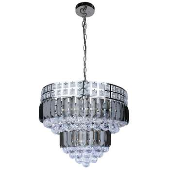 Koval 5 Light Ceiling Light Polished Chrome (H98 x W42 x D42cm)