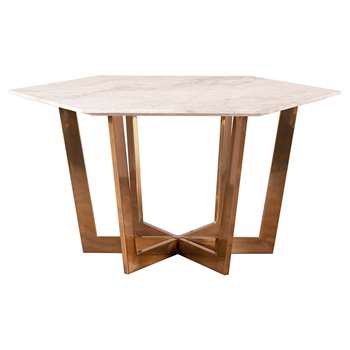 Kronos Dining Table Brass (H74 x W150 x D150cm)
