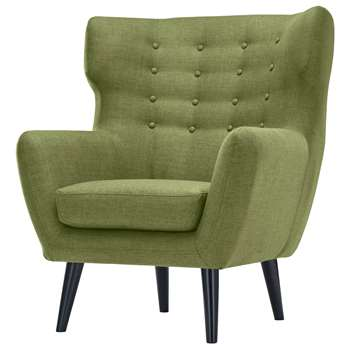Kubrick Wing Back Chair, Lime Green (105 x 91cm)