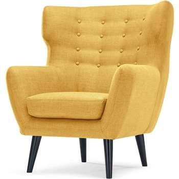 Kubrick Wing Back Chair, Ochre Yellow (105 x 91cm)