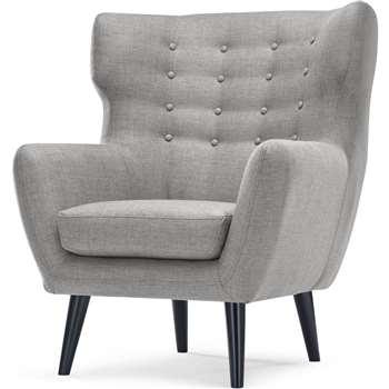 Kubrick Wing Back Chair, Pearl Grey (105 x 91cm)